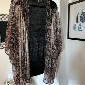 Daniel Rainn Plus Size Printed Kimono